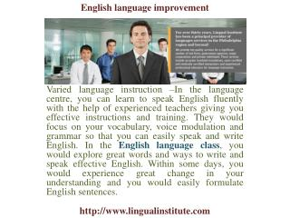 English Language Improvement, Spanish, Portuguese Language Class, Learn to Speak Spanish