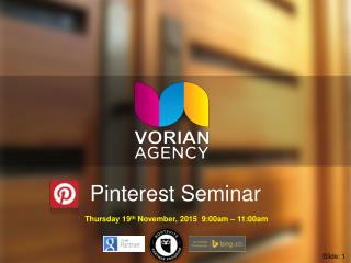 Social Media Marketing on Pinterest Training Seminar by Matt Lynch Perth SEO Specialist