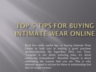 Intimate Wear Online, Womens Innerwear