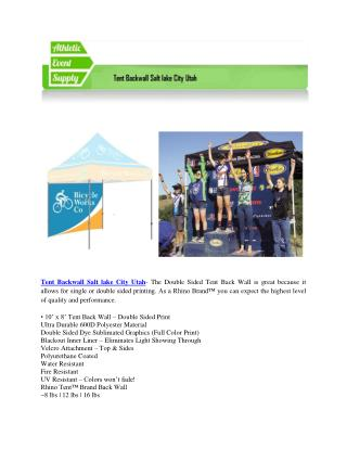 Athleticeventsupply- Tent Backwall Salt lake City Utah and Tent Sidewall Salt lake City Utah