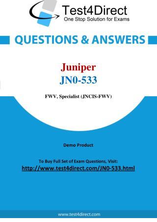 Juniper JN0-533 JNCIS Real Exam Questions
