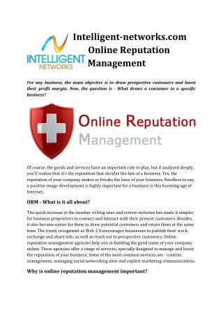 Intelligent-networks.com Online Reputation Management