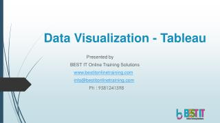 Data Visualization Tool Tableau Introduction - BEST IT Online Training Solutions