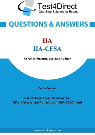 IIA-CFSA Exam - Updated Questions