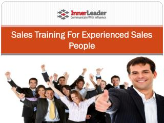 Sales Training For Experienced Sales People