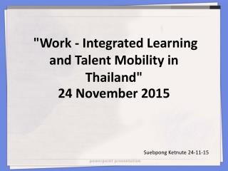Work-integrated Learning