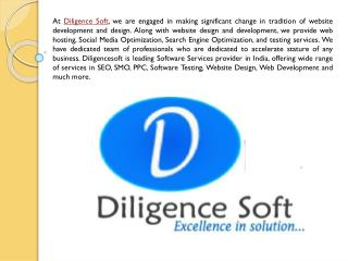 SEO, SMO, QA Manual Testing, Web Development Company India - Diligencesoft