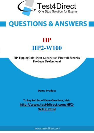 HP HP2-W100 Exam Questions