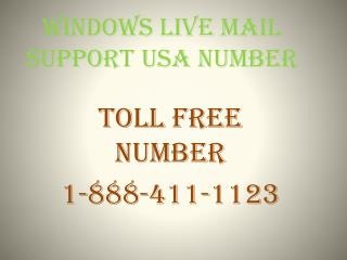 Windows Live Support & Windows Live Mail Support USA Number