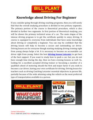 Driving lesson Leicester