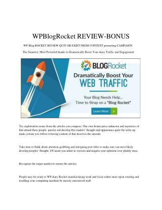 WPBlogRocket REVIEW - BONUS