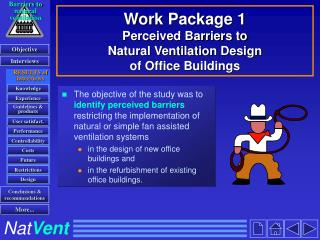Work Package 1 Perceived Barriers to Natural Ventilation Design of Office Buildings