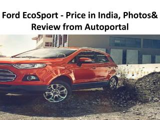 Ford EcoSport Price