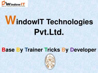 WindowIT - 6 Months Industrial Training in Chandigarh