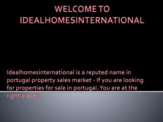Properties For Sale In Portugal | Buy Property In Portugal | Algarve Property - Ideal Homes International