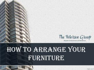 How to Arrange your Furniture