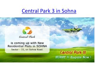 Central park 3 in sohna