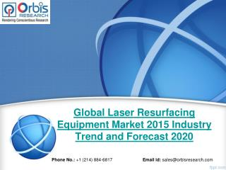 2015 Global Laser Resurfacing Equipment Market Key Manufacturers Analysis