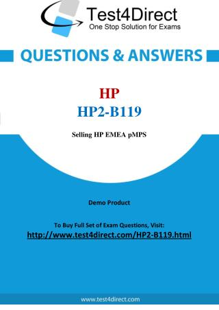 HP HP2-B119 Test Questions