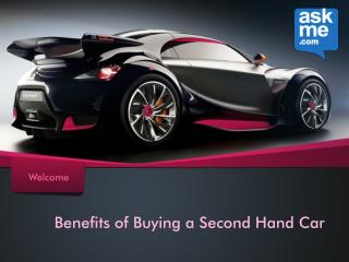 Benefits of Buying a Second Hand Car