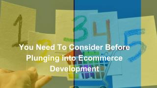 5 Things You Need To Consider Before Plunging into Ecommerce Development