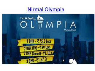 Nirmal olympia in mulund west mumbai