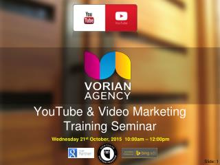 YouTube Training Seminar by Matt Lynch Perth Social Media Marketing Specialist