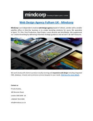Web Design Agency Fulham UK - Mindcorp