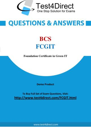 BCS FCGIT Test Questions