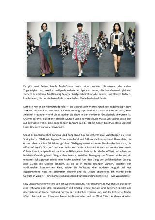 Modewoche der Seoul-Mode & Fashion