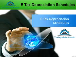 Investment Property Depreciation Schedules