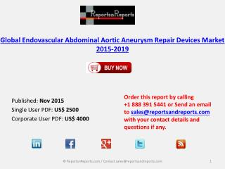 Global Endovascular Abdominal Aortic Aneurysm Repair Devices Market 2015-2019