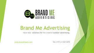 Innovative Advertising Company in Dubai