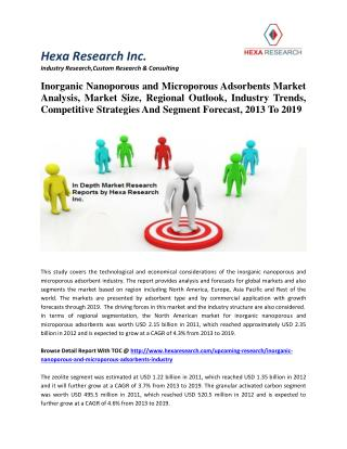 Inorganic Nanoporous and Microporous Adsorbents Market Size, Trends And Forecast, 2013 To 2019