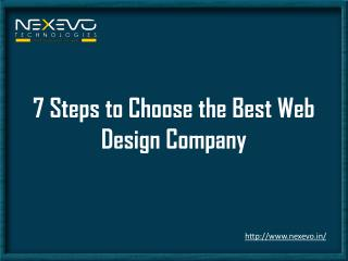 7 steps to choosing a best web design company