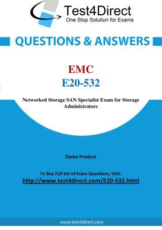 E20-532 EMC Exam - Updated Questions