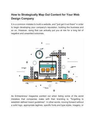 How to Strategically Map Out Content for Your Web Design Company