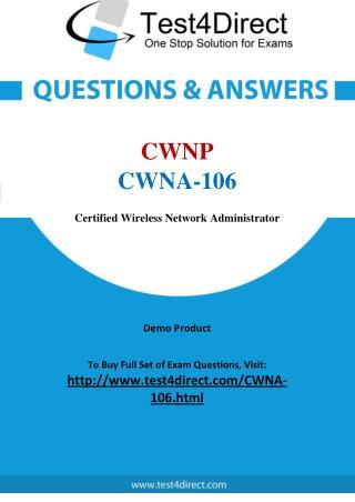 CWNP CWNA-106 Test - Updated Demo