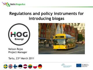 Regulations and policy instruments for introducing biogas