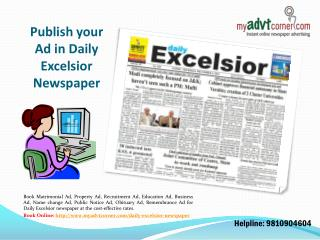 Daily-Excelsior-Newspaper-Ad-Booking-Online-India