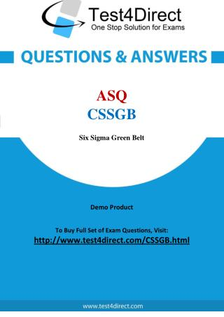 ASQ CSSGB Exam Questions