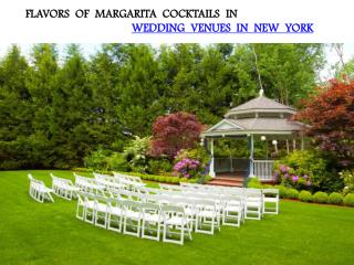 FLAVORS OF MARGARITA COCKTAILS IN WEDDING VENUES IN NEW YORK