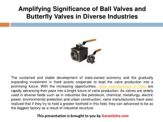 Amplifying Significance of Ball Valves and Butterfly Valves in Diverse Industries