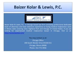 Baizer Kolar & Lewis, P.C.
