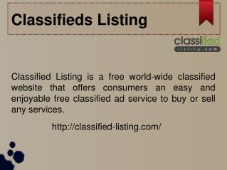Classifieds Listing