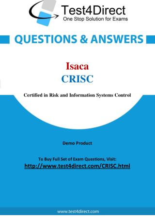 CRISC Isaca Exam - Updated Questions