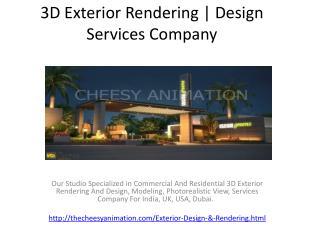 3D Exterior Rendering | Design Services Company