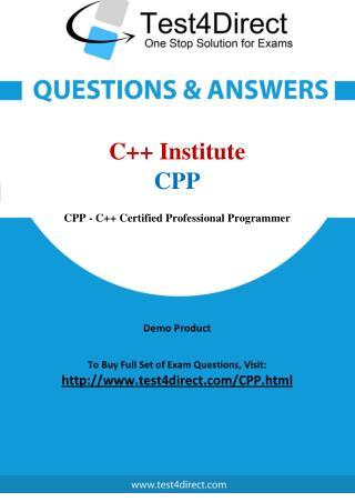 C Institute CPP Exam Questions