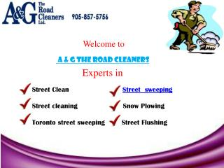 A & G The Road Cleaners - snow plowing