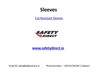Tremendous Collection of Cut Resistant Sleeves in Ireland at SafetyDirect.ie